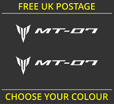 2x Yamaha MT-07 / MT07 Fairing Decal Stickers Motorcycle Vinyl Cut