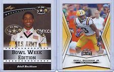 "ODELL BECKHAM JR. 2011/14 LEAF U.S. ARMY HIGH ALL-AMERICAN ""2"" CARD ROOKIE LOT!"