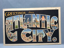 GREETINGS from ATLANTIC CITY New Jersey Souvenir Vintage Postcard Posted 1959