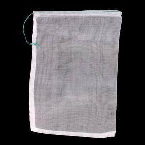 Drawstring Nylon Mesh Filter Media Bags.15x10cm for Aquarium Garden Pond.