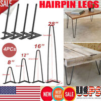 """4 x 8"""" 12"""" 16"""" 28"""" Hairpin Coffee Table Legs DIY Home Furniture Parts Metal  US"""