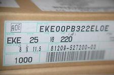 ROEDERSTEIN LEKE00PB322EL0E 220UF 25V 8x11.5MM Electrolytic Qty-50