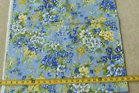 By 1/2 Yd, Yellow & Blue Floral on Blue, Moda/Japan/Summer Beauty II, P4761