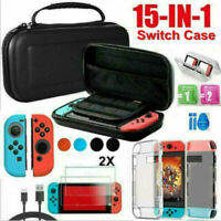 15 IN 1 For Nintendo Switch Case Bag Cover+Charging Cable+Protector Accessories