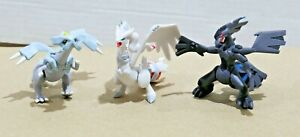 "Pokemon TOMY Gen 5 - 2 to 2.5"" Figure / Toy Lot (3) - Kyurem + Zekrom + Reshiram"