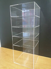 "Acrylic Showcase Shelves Display 9"" x 9"" x 23"" without door"
