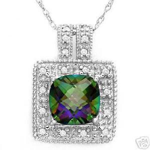 1.7CT CHARMING NECKLACE PRECIOUS STONES DIAMOND, TOPAZ