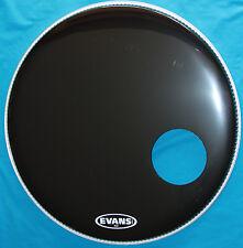 "Evans  EQ3(TM) 22 inch Black Bass Resonant Head with 5"" Offset Mic Port, BD22RB"
