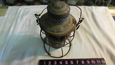 SOUTHERN RAILROAD ADLAKE -KERO RED GLOBE MARKED & FRAME ALL ORIGINAL LANTERN