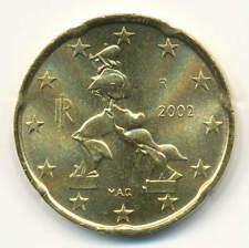 8 x Italien 20 Cent 2002 BU/St.