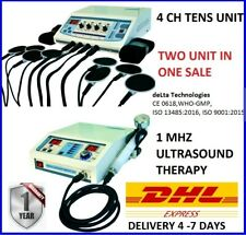 Combo Model Ultrasound Therapy 1 Mhz Electrotherapy 4 Ch Physiotherapy Machine