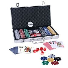 300 Pcs Diced Poker Chip Set With Denomination Toy