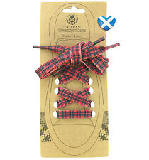 TARTAN SHOE LACES Royal Stewart Flat Trainers Boots Novelty Scottish UK