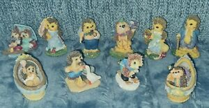 10 Igel Figuren * Familie * kleine Sammlung * Polyresin * 5-6 cm