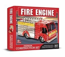 Fire Engine Construction Set 307 PIECE STAINLESS STEEL SYSTEM Meccano Like