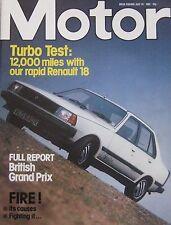 Motor magazine 24/7/1982 featuring Colt Hatchback Turbo road test, Renault