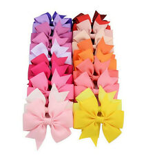40PCS/Lot Bow Hair Clip Ribbon Alligator Clips for Girls  Kids Sides Accessories