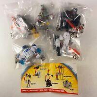 5pcs Playskool Star Wars Power Up BOBA FETT R2-D2 Luke Darth Vader Snowtrooper
