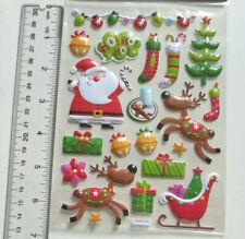 Paper Crafts Christmas HO HO HO SANTA PUFFY Stickers - Sheet of 20 Pc