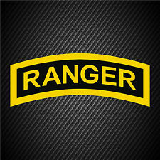 US Army Ranger Special Forces Patch Vinyl Graphics Decal Sticker Car Window