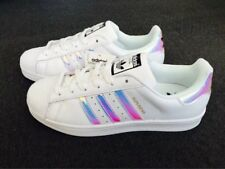 Adidas Superstar Women's Iridescent Casual Up Sneakers 8