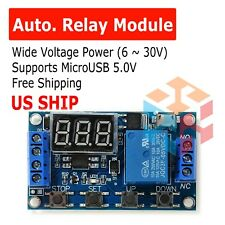 DC 6-30V 1-Way Relay Module Power-off Trigger Delay Cycle Timer Switch US Ship