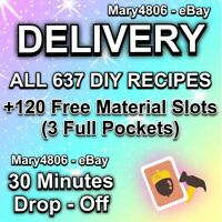Animal Corssing Horizons FULL COMPLETE ALL DIY Recipes Cards 637 - DELIVERY