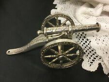 Vintage Ornate Silver Plated Canon