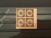 Germany 1865 Augsburg Undelivered Mint Never Hinged Stamps Block R36954