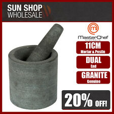 100% Genuine! MASTERCHEF Dual End Granite Mortar & Pestle Gray! RRP $49.99!