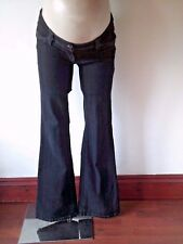 NEXT MATERNITY CHARCOAL UNDER BUMP BOOTCUT JEANS SIZE 8 LONG
