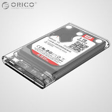 "ORICO Transparent 2.5"" Type-C USB 3.1 SATA SSD Hard Drive HDD Enclosure Case Box"