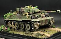 1/35 Built Tamiya German Tiger I Tank Late w/Zimmerit Normandy 1944 Model