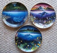 Danbury Mint Underwater Paradise Plate Set Robert Lyn Nelson no Boxes Lot of 3