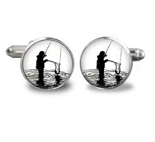 Fishing Cufflinks, Fish Jewelry, Mens Cufflinks, Gifts
