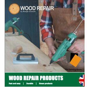 Wood Repair Kit Knot Crack Split Wood Filler Waterproof Fast Wood Cure Heat Gun