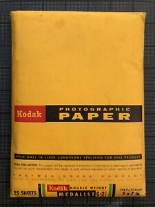 Kodak Medalist G, Double Weight, 5x7, 25 sheets, opened. Expired 1964.