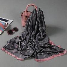 100% Pure Mulberry Silk Women Large Scarf Islamic Hijab Foulard Shawl  70