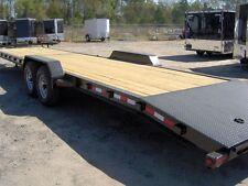34 car hauler equipment utility trailer 2/3 wood deck