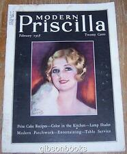 Modern Priscilla Magazine February 1928 Cover by Earl Christy/February Holidays