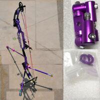 Purple CNC Archery Double side V-bar Bow Stabilizer Quick Disconnect Adjustable