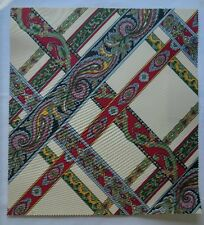 "Fabric Sample Brunschwig Fils Campin 16"" X 17.5"" Geometric Paisley Weave Red"