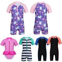 Baby Boy Girls Swimsuit One Piece Surfing Suit Beach Swimwear Rash Guard UPF 50+