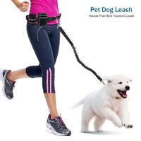 Adjustable Hands free Pet Dog Walking Running Jogging Lead Leash Waist Belt Bag