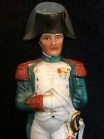 Napoléon Bonaparte Statuette Porcelaine Polychrome Peinte XX ème