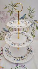 "Stunning Royal Albert ""Brigadoon""  XL 3-tier cake stand ***PRICE REDUCED***"