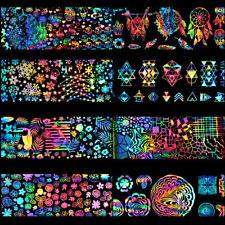 8Stk Holographische Nagelfolie Einhorn Traumfänger Weihnachten Nagel Aufkleber