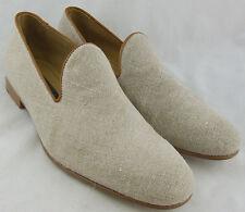 240648 FTi60 Men's Italian Shoes Size 10 M Nude Fabric Slip On Johnston Murphy