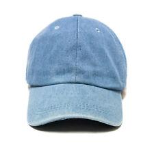 Chambray Denim Cap Hat Cotton Baseball Cap Dad Hat Light Blue Low Cap SnapKing