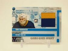 2010-11 LEAF ITG IN THE GAME VAULT TOM BARRASSO DECADES 80'S PURPLE 1/1 JERSEY